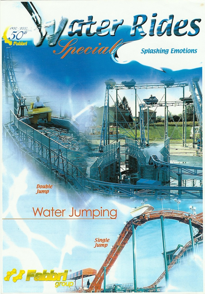 panaramic image of fabbri flying flume coaster attraction
